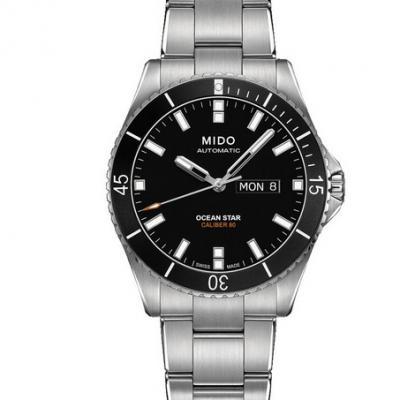 一比一高仿美度领航者M026.430.11.051.00男士自动机械钢带手表(黑面)