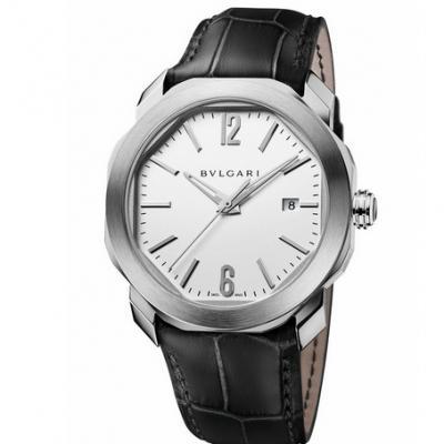 宝格丽 OCTO系列102779男士机械白盘手表 一比一复刻表