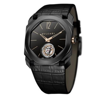 宝格丽全新OCTO系列102560手动陀飞轮机芯男士腕表