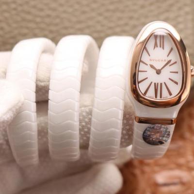 BV宝格丽SERPENTI系列 陶瓷表壳 白色陶瓷女士石英腕表