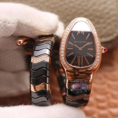 BV宝格丽SERPENTI系列 陶瓷表壳 黑色陶瓷女士石英腕表