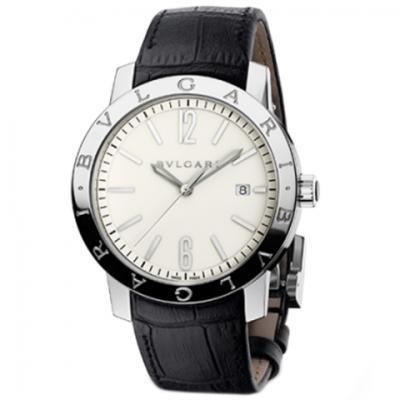 TW宝格丽BVLGARI BVLGARI SOLOTEMPO系列102056中性皮带白盘手表