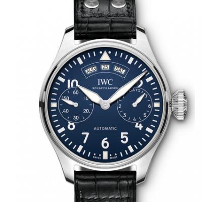 YL厂万国大型飞行员系列 iw502708万年历大飞全真功能 大型日历时计男士手表