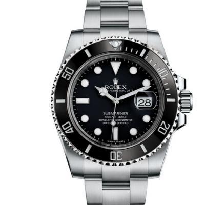最高品质NAIL工厂手表劳力士潜航者日历型系列116610LN-黑水鬼 904L精钢潜水腕表