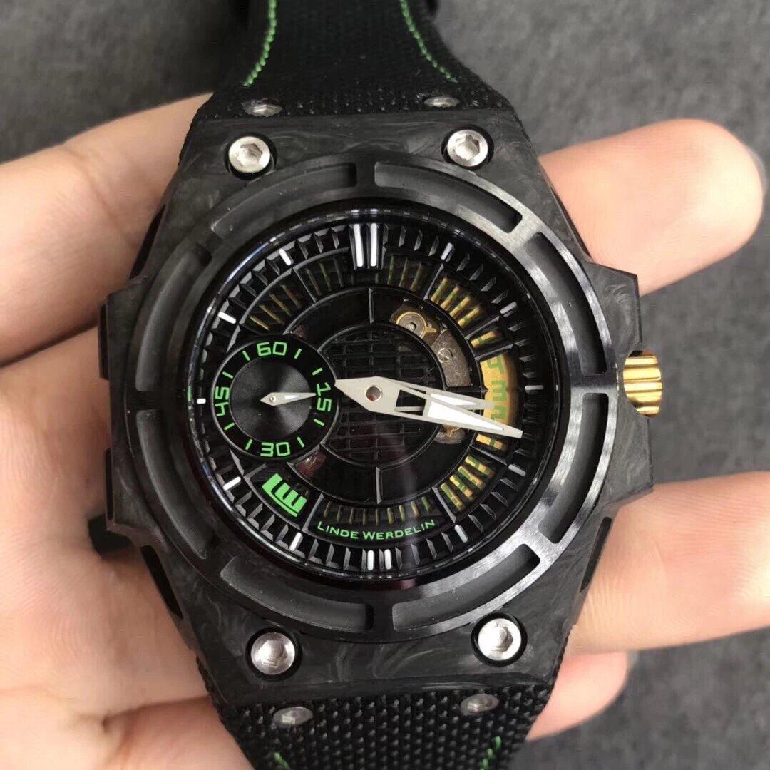 XF瑞士钟表制造商 Linde Werdelin (林德维纳)运动腕表 碳纤维