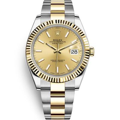 WWF厂手表劳力士日志型系列m126333-0009男士自动机械手表,18k间金
