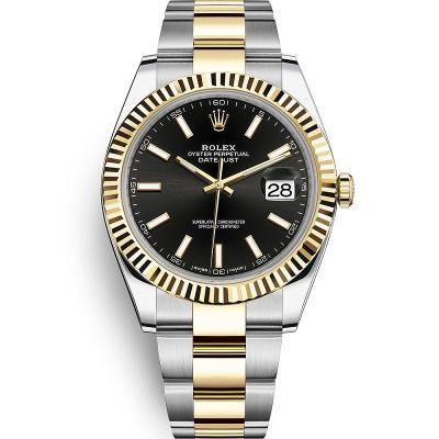 WWF厂手表劳力士日志型系列m126333-0013男士自动机械手表,18k间金