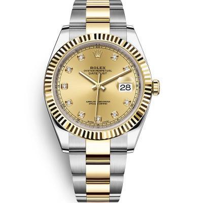WWF厂手表劳力士日志型系列m126333-0011男士自动机械手表,18k间金