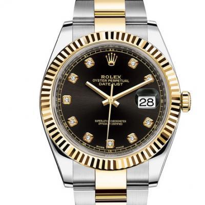 WWF厂手表劳力士日志型系列m126333-0005男士自动机械手表,18k间金
