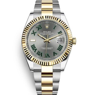 WWF厂手表劳力士日志型系列m126333-0019男士自动机械手表,18k间金