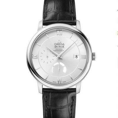 ZF厂欧米茄蝶飞系列424.13.40.21.02.001动能显示经典白盘皮带手表