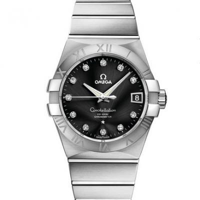 VS欧米茄星座123.10.38.21.51.001才是欧米茄的精髓 一款好看的款式 精钢表带 男士