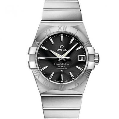 VS欧米茄星座123.10.38.21.01.001才是欧米茄的精髓 一款好看的款式 精钢表带 男士