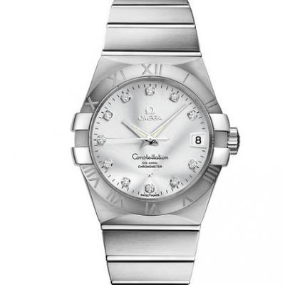 VS欧米茄星座123.10.38.21.52.001才是欧米茄的精髓 一款好看的款式 精钢表带 男士