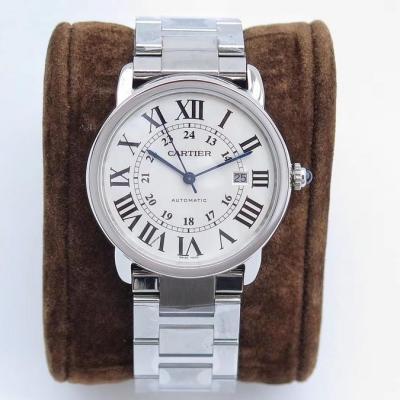 ZF卡地亚 Cartier(伦敦系列)W670101超薄经典款,男士机械表,罗马数字
