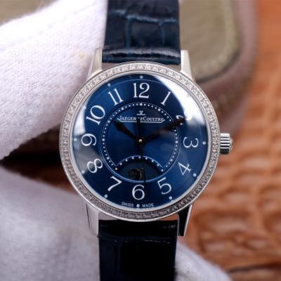 MG厂积家约会系列腕表,女士自动机械腕表(蓝盘)镶钻