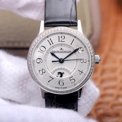 MG厂积家约会系列腕表,女士自动机械腕表(白盘)镶钻