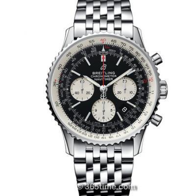 GF厂百年灵航空计时1 B01计时腕表,男士自动机械计时腕表,黑盘,钢带