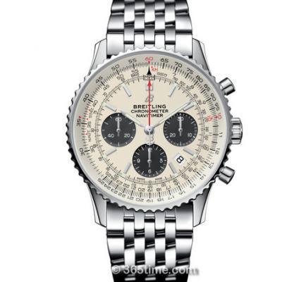 GF厂百年灵航空计时1 B01计时腕表,男士自动机械计时腕表,白盘,钢带