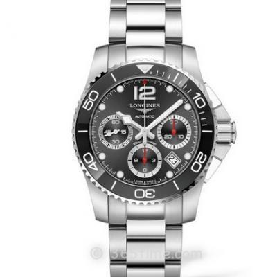 8F厂浪琴康卡斯运动计时系列L3.783.4.56.6潜水腕表 ,钢带男士机械计时手表
