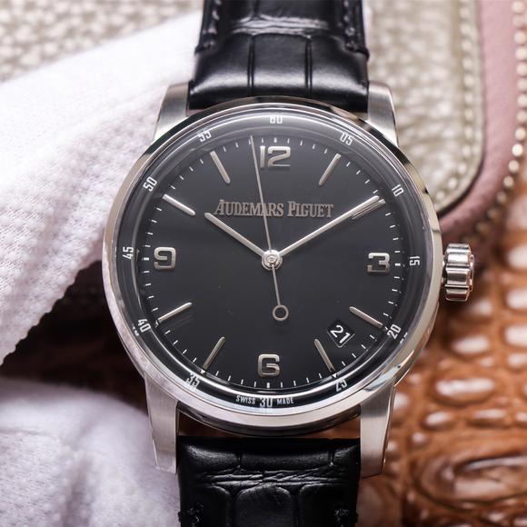TNk爱彼CODE 11.59系列15210BC.OO.A002CR.01男士皮带自动机械手表