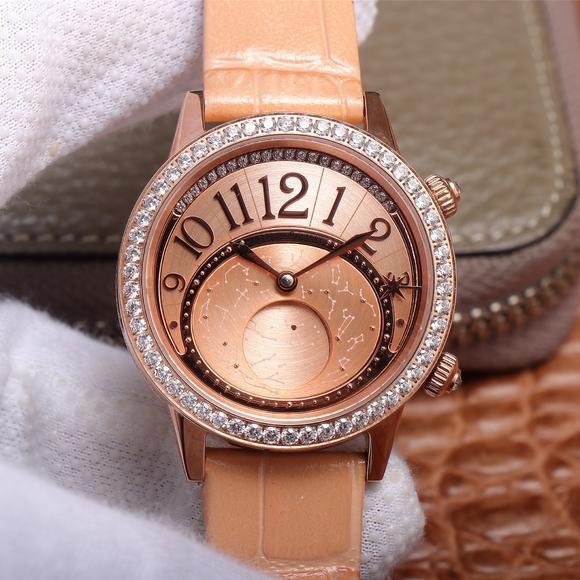 CC积家约会系列月相腕表3523490/3522420/352248女士机械腕表,镶钻玫瑰金