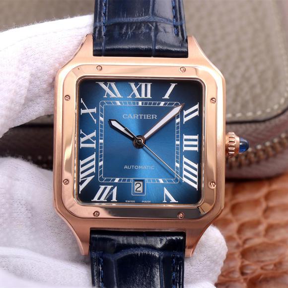TW卡地亚V2升级版山度士情侣腕表,自动机械机芯,皮带表
