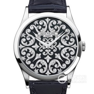 FL百达翡丽5088/100P-001雕花自动机械皮带手表