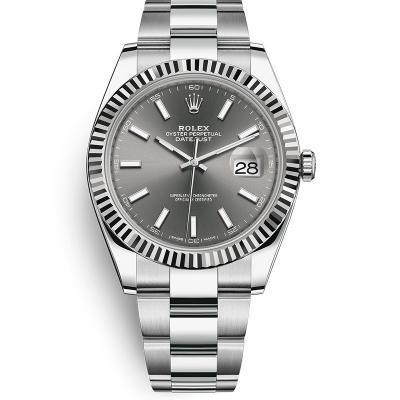 N厂复刻劳力士日志型m126334-0013男士自动机械腕表(灰面)