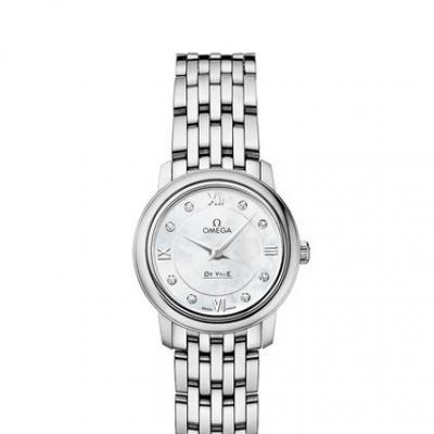 zf欧米茄蝶飞系列424.10.24.60.55.001石英女士钢带手表