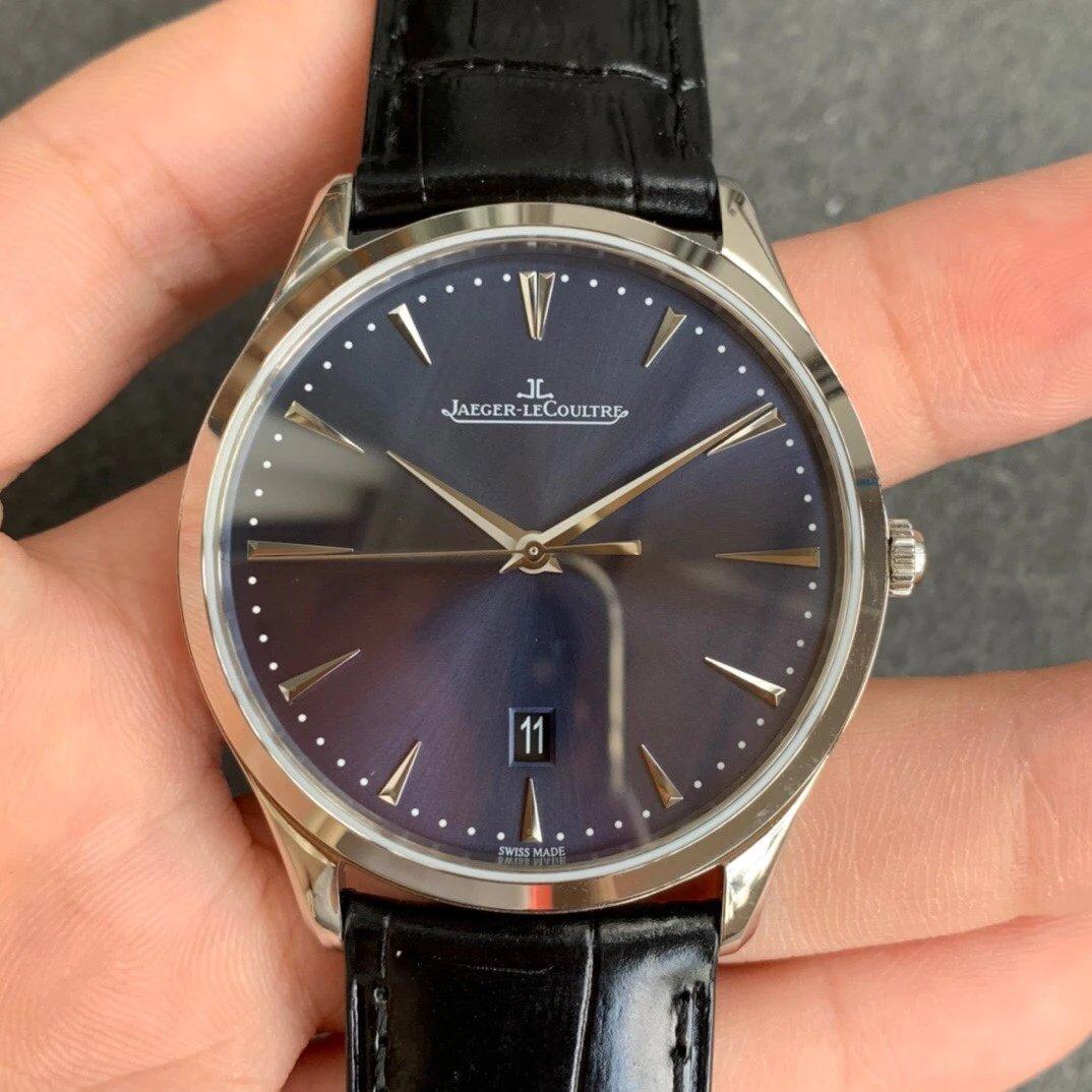 FK厂复刻积家超薄大师系列蓝盘皮带自动机械手表