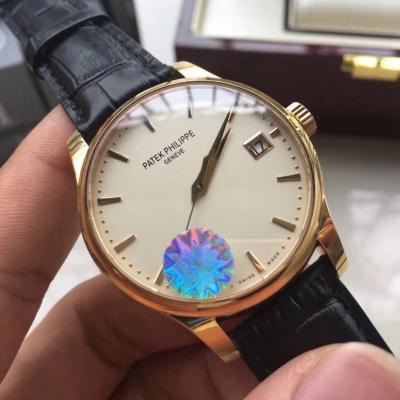 bf厂百达翡丽翻盖系列黄金男士机械手表