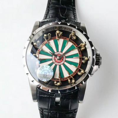 顶级复刻罗杰杜彼RDDBEX0398男士机械手表 顶级一比一复刻 (白金款)