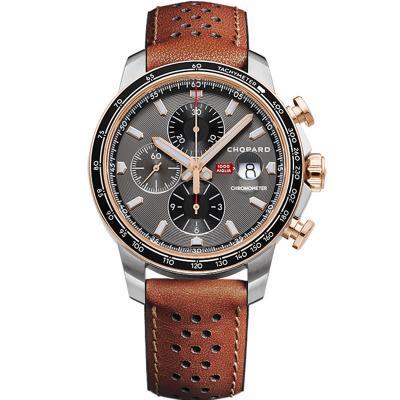 V7厂萧邦赛车系列168571-6002计时机械男士手表
