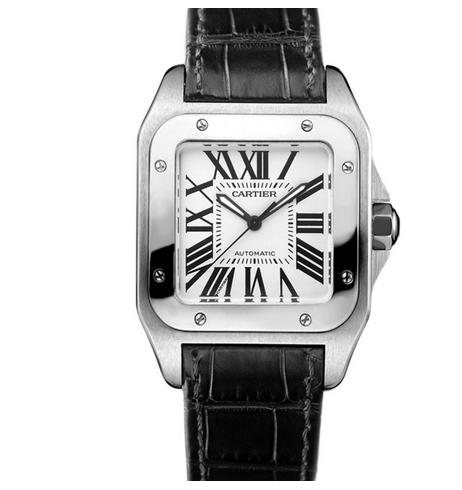 V6厂复刻卡地亚山度士系列W20106X8皮带女士自动机械手表