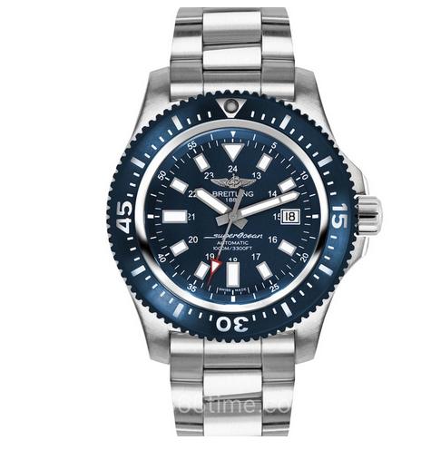 GF厂复刻百年灵超级海洋系列Y17393161C1A1日历男士机械表 蓝盘